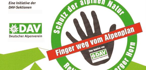Danke Alpenplan: Kampagne des DAV
