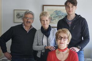 Die Seilschaft unserer Geschäftsstelle: (v.l.) Bernhard Pappenberger, Hermine Sukienik, Heidi Neuefeind, Felix Saller